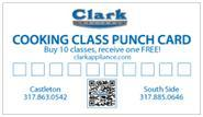 Cooking Class Punch Card