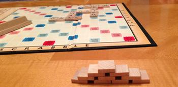 Scrabble at home with the family