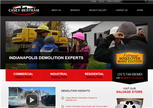 Indianapolis Demolition & Construction Website