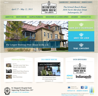 Indianapolis Decorators' Showhouse (Website Design by Marketpath)