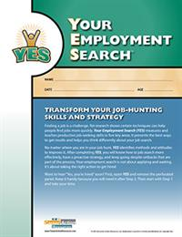 Order Your Employment Search (YES) - Job Search Planning & Effectiveness