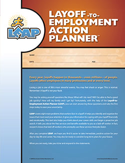 Order the Layoff-to-Employment Action Planner (LEAP) - Job Search Planning & Career Assessment